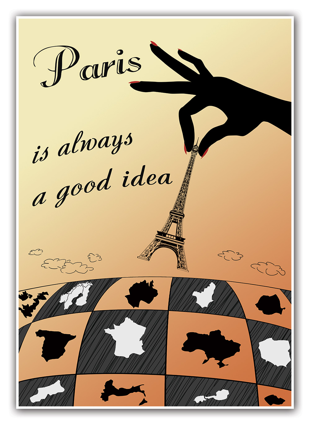 Paris Is Always A Good Idea Wall Art Home Decor 115 X 165 Print
